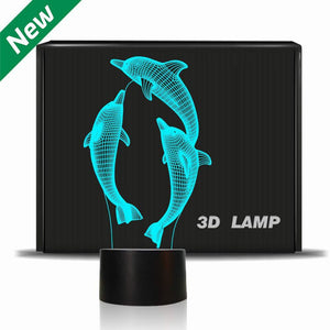 Dolphin 3D illusion Lamp