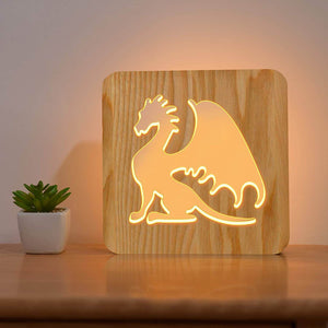 Dragon Wooden Lamp