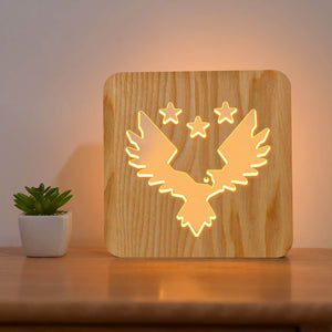 Eagle Wooden Lamp