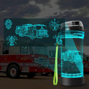 Fire Truck water bottle