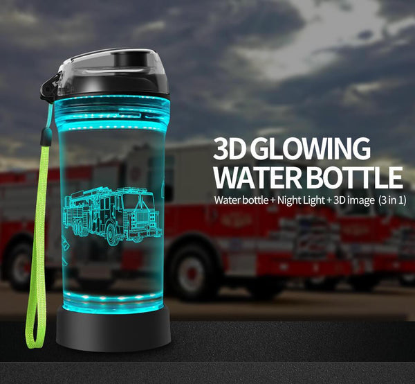 fire truck water bottles