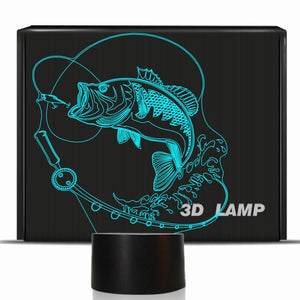 Fishing 3D Illusion Lamp