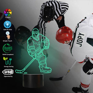 Ice Hockey 3D Illusion Lamp
