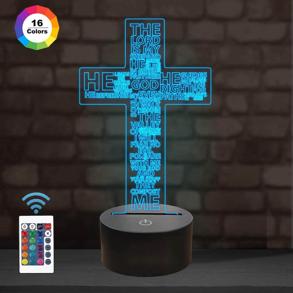Jesus Cross 3D Illusion Lamp