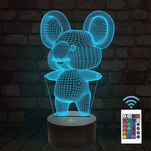Koala 3D Illusion Lamp