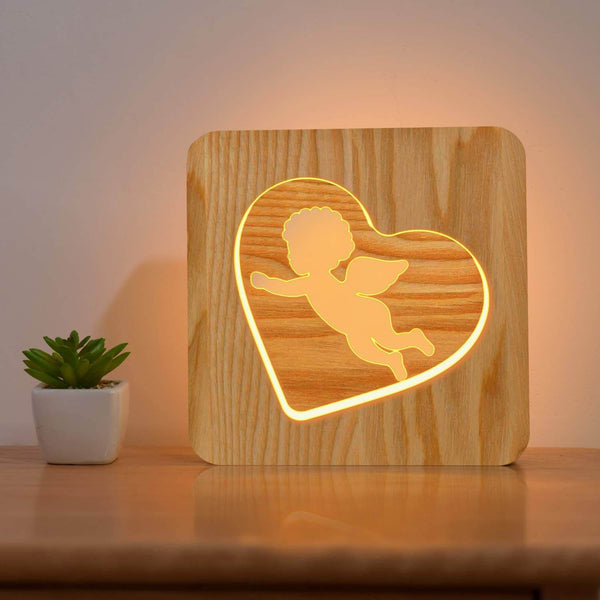 Little Angel Wooden Lamp