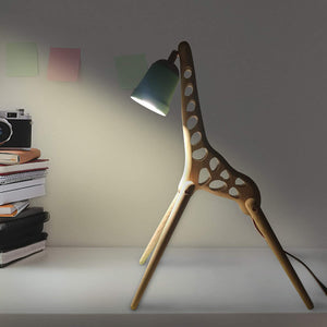Coolgiftmart Modern Cute Animal Giraffe Adjustable Wooden Lamp