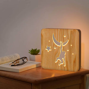 Monkey Wooden Lamp