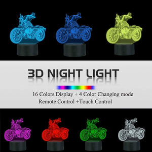 Motorcycles 3D Illusion Lamp