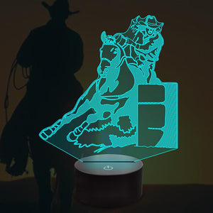 cowboy 3D Illusion Lamp