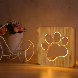 Paw Wooden Lamp