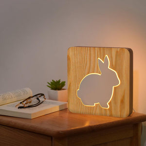 Rabbit Wooden Lamp