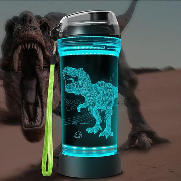Roaring dinosaurs 3D Glowing Water Bottle
