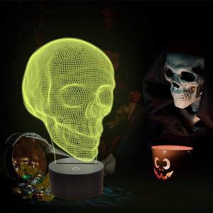 Skull 3D Illusion Lamp