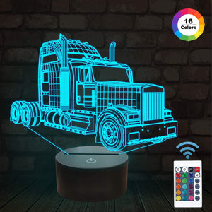 Truck 3D Illusion Lamp
