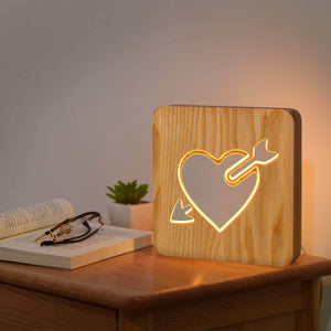 The Arrow of Love Wooden Lamp