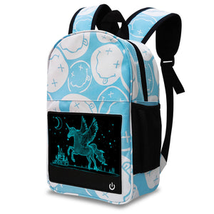 Unicorn Glow in the dark backpack