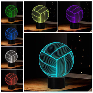 Volleyball 3D Illusion Lamp