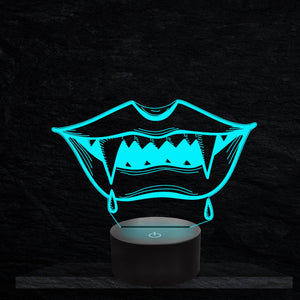 Vampire Teeth 3D Illusion Lamp