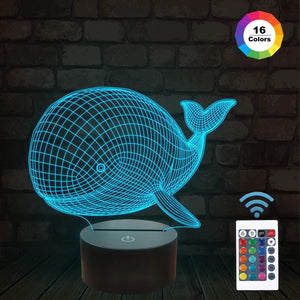 Whale 3D Illusion Lamp