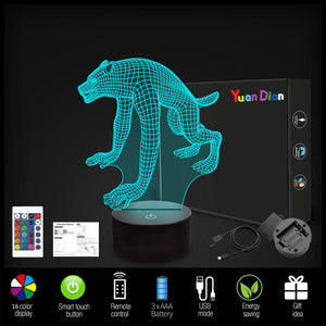 Werewolf 3D Illusion Lamp