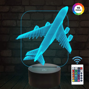 Airplane 3D Illusion Lamp
