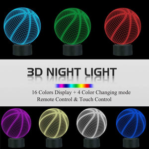 Basketball 3D Illusion Lamp