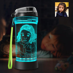 Custom 3D Glowing Water Bottle