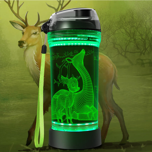 Deer 3D Glowing Water Bottle