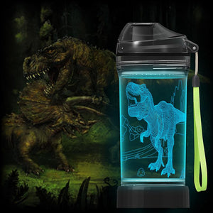 Dinosaur 3D Glowing Water Bottle