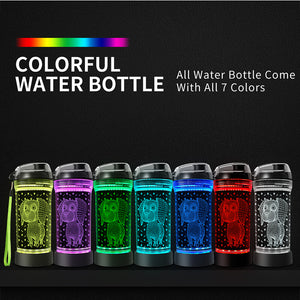 Dog 3D Glowing Water Bottle