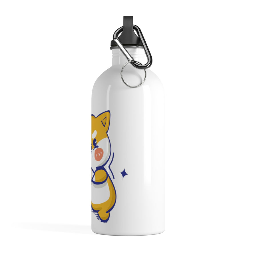 Angry Shiba Inu Stainless Steel Water Bottle