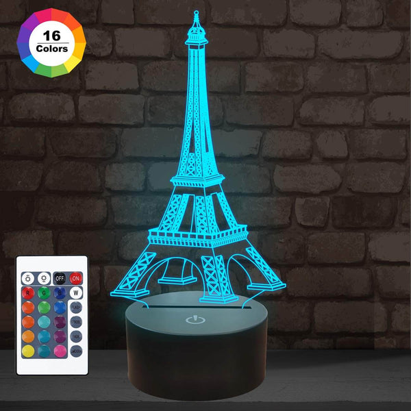 Effiel Tower 3D Illusion Lamp