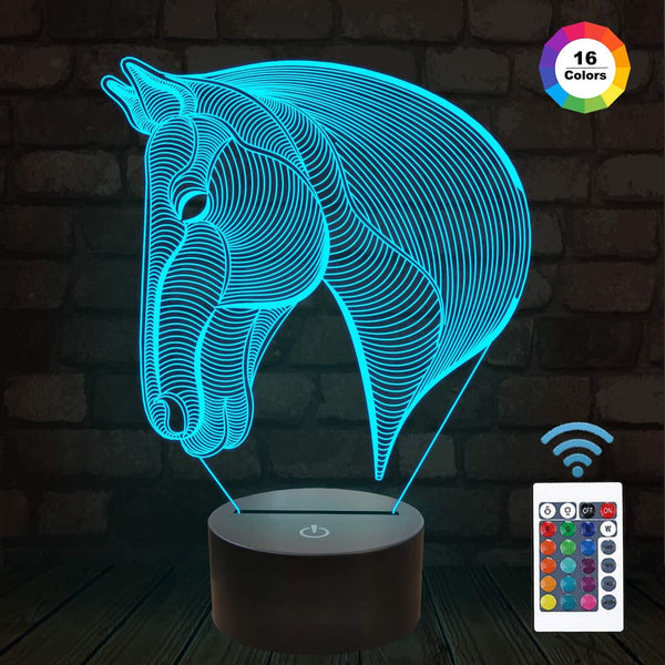 Horse 3D illusion Lamp