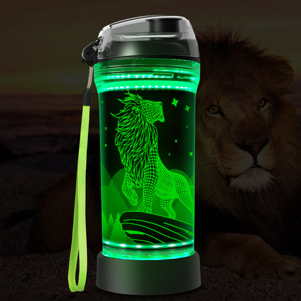 lion water bottle