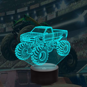 Monster Truck 3D Illusion Lamp