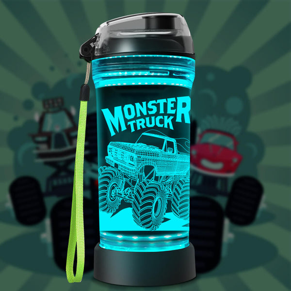 Monster Truck water bottle