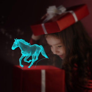 Running Horse 3D Illusion Lamp