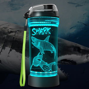 Shark 3D Glowing Water Bottle