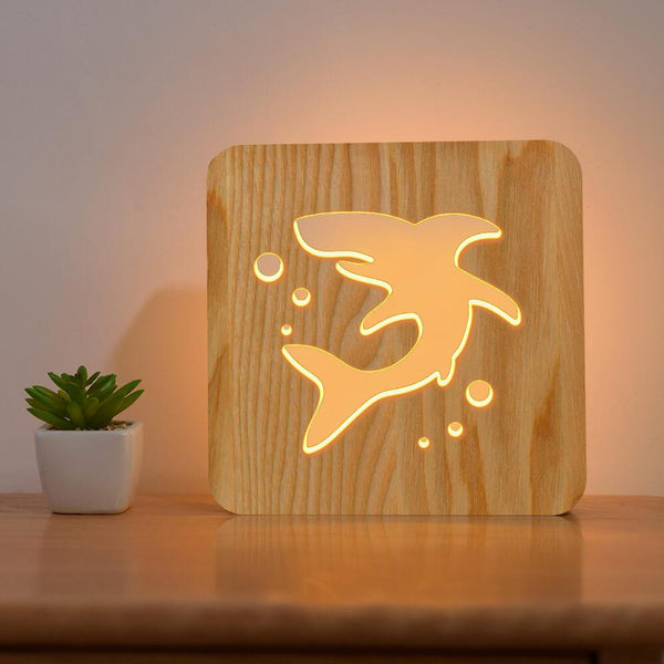 Shark Wooden Lamp