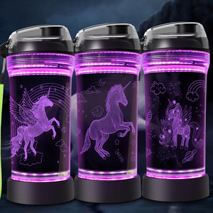 Unicorn 3D Glowing Water Bottle