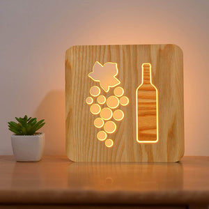 Wine Wooden Lamp