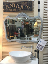 Load image into Gallery viewer, - SOLD - White washed french grey vintage Mirror