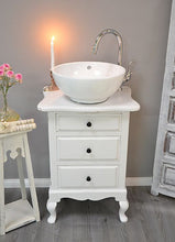 "Load image into Gallery viewer, - SOLD - ""Amelie""  SMALL SHABBY CHIC VANITY"
