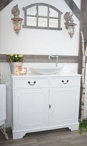 "- ON HOLD - ""Marie"" WHITE VINTAGE SHABBY CHIC VANITY"