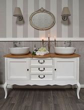 "Load image into Gallery viewer, - SOLD - ""Clara"" DOUBLE VINTAGE VANITY"