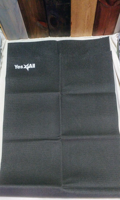 2'x5.5' Black Yoga Mat