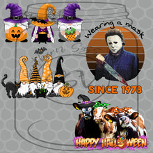 Load image into Gallery viewer, Halloween Fluorescent Glow Sublimation Transfers