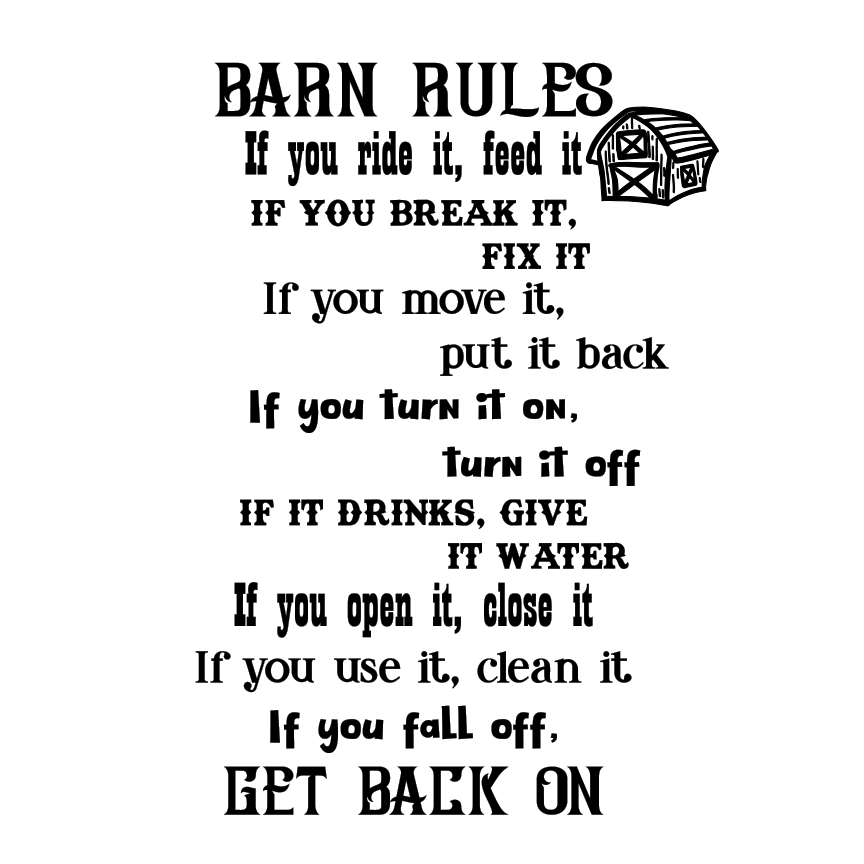 Barn Rules- SVG File