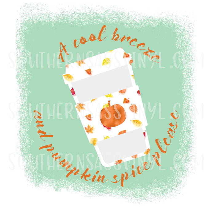 Cool Breeze & Pumpkin Spice- PNG Clip Art Instant Digital Download
